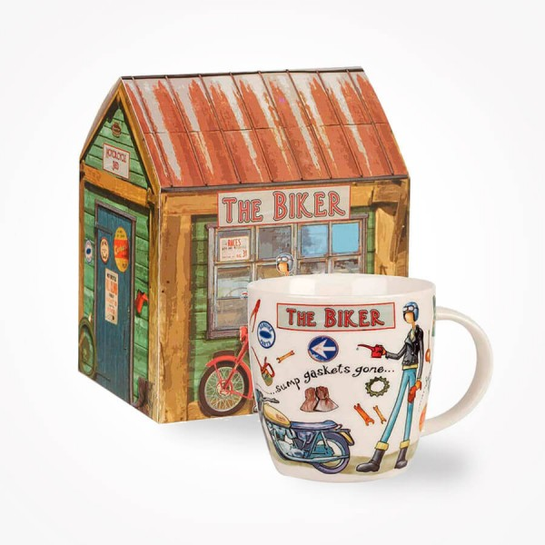 Churchill At Your Leisure The Biker mug in Giftbox