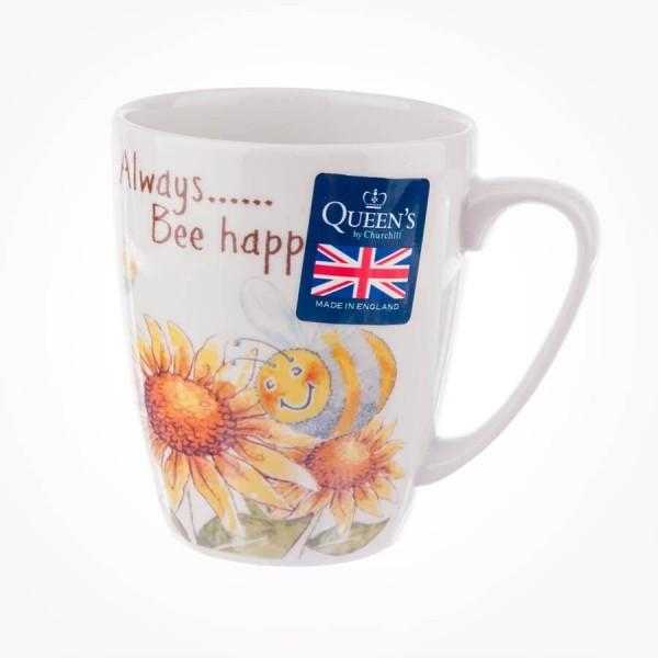 Ray of Sunshine Bee Happy Oak Mug