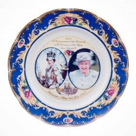 "Commemorative Crown China Plates 10.5"""