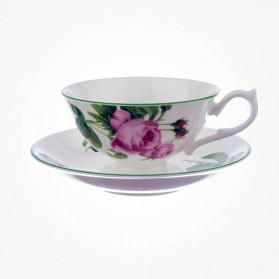 English Rose Teacup & Saucer Athens