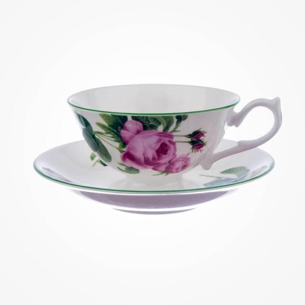 English Rose Teacup & Saucer Athens