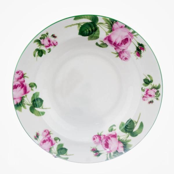 "English Rose Soup Plate 9.25"""