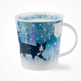 Dunoon Ceramics Cairngorm Moonbeam cat Mug