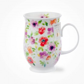 Dunoon Suffolk Fleurs Red Mug