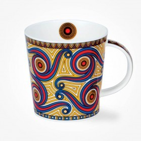 Dunoon Masai red Lomond Shape Mug