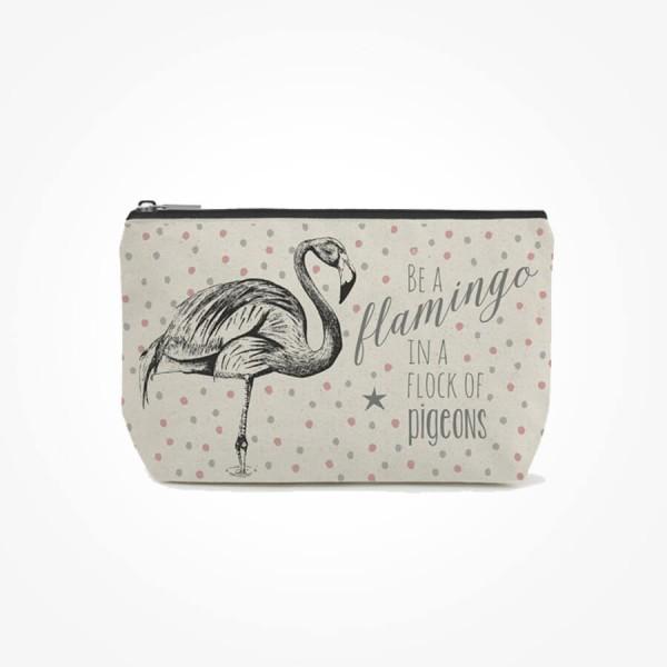 East of India Cosmetic bag Flamingo