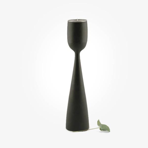 East of India Black wood tealight holder Large
