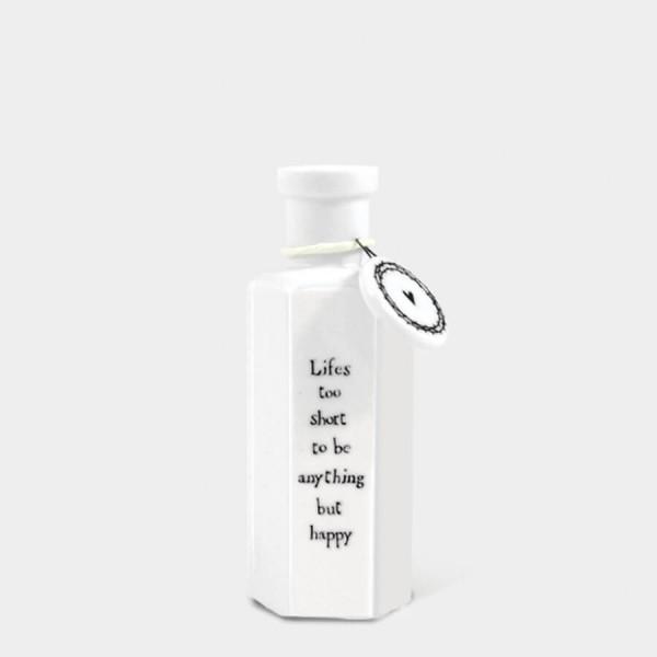 Hexagonal porcelain bottle-Life's too short