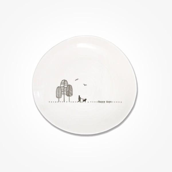 Wobbly plate Happy days