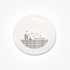 Cross Hatch plate 14.5cm House Love Home