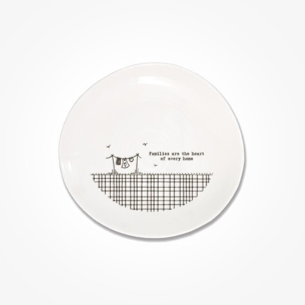 Cross Hatch plate 14.5cm Families are the heart