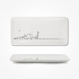 Long Trinket Dish 20cm Good friends Gift Box