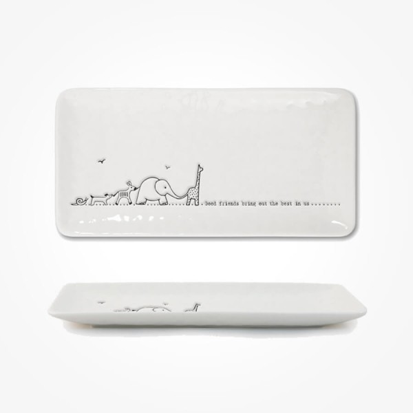 Long Trinket Dish 20cm Good friends Gift Box