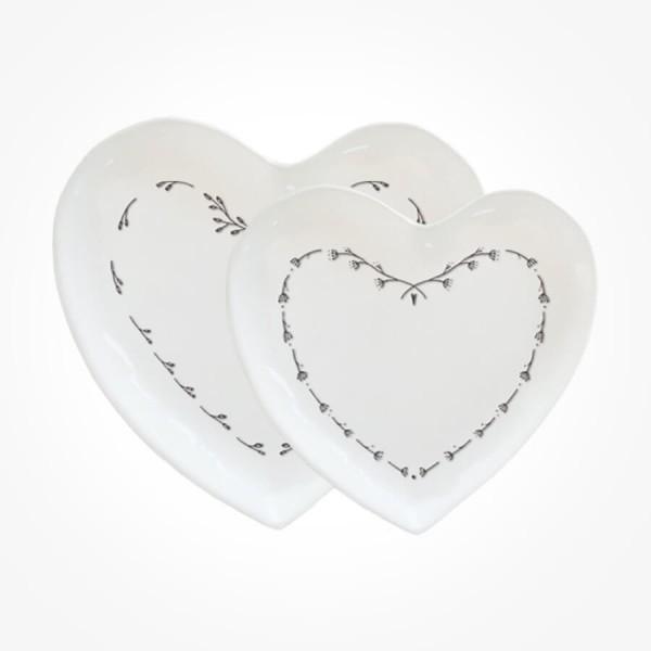 Set of 2 heart plates Gift Box