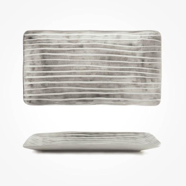 Painted trinket dish Painted stripe 20cm Gift Box