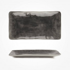 Painted trinket dish Black wash 20cm Gift Box