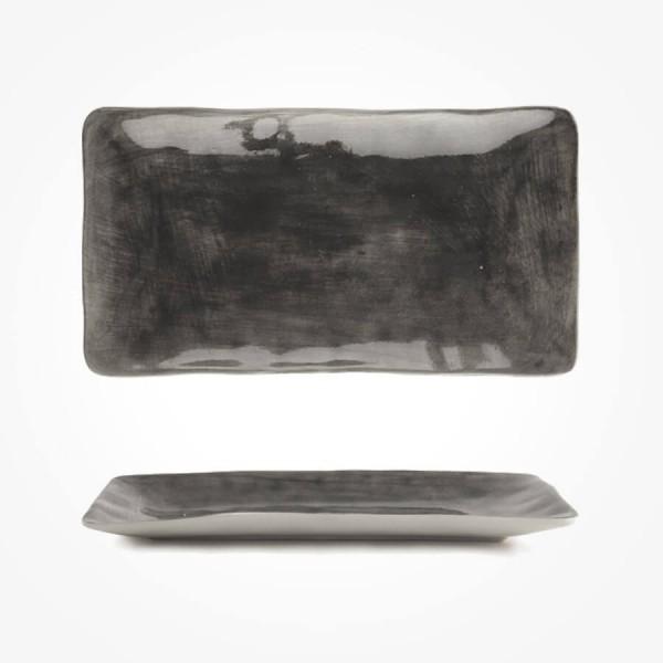 Painted trinket dish Black wash 20cm Gift Box
