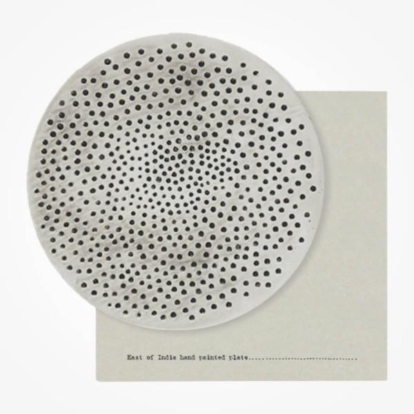 Rustic Plate 22cm Dimpled Spots