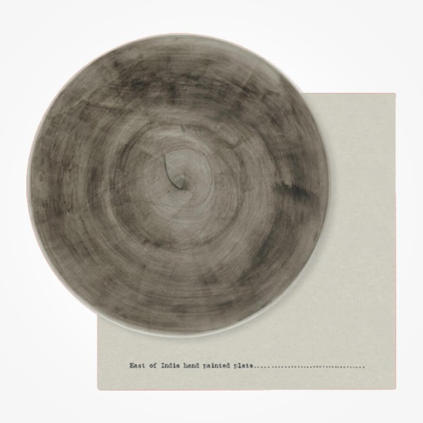 Rustic Plate 22cm Black wash