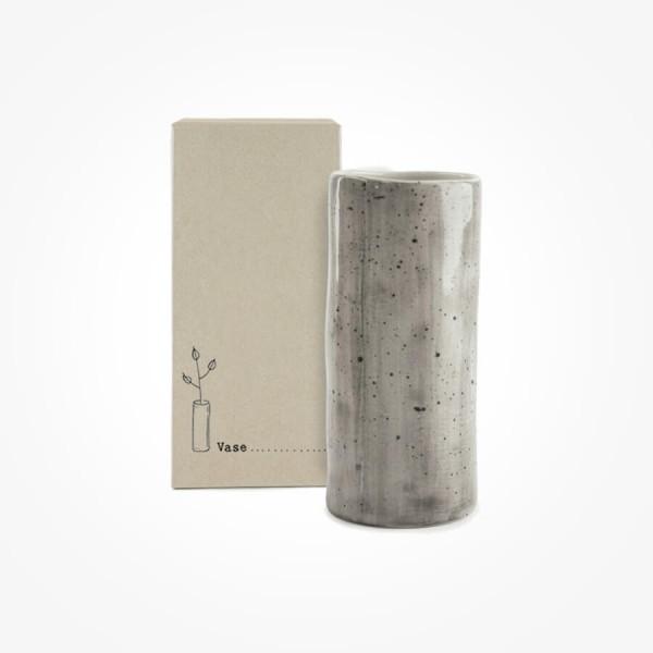 Hand painted Vase Speckled wash Medium Gift Box