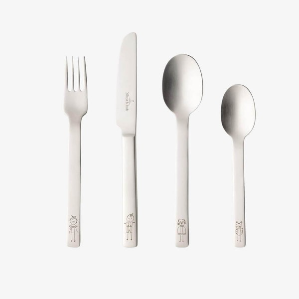 Villeroy & Boch One Children Playful Steel Cutlery Set 4 pcs