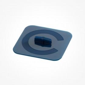 Silicone Square cover lagoon 14cm Blue