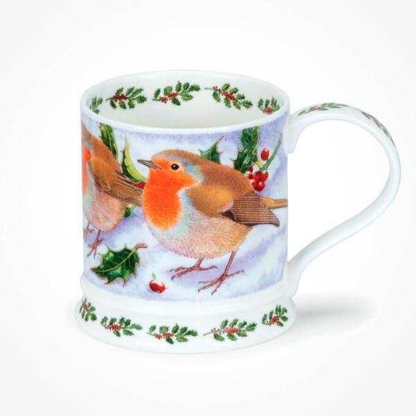 Dunoon IONA Festive Birds Robin Christmas Mug