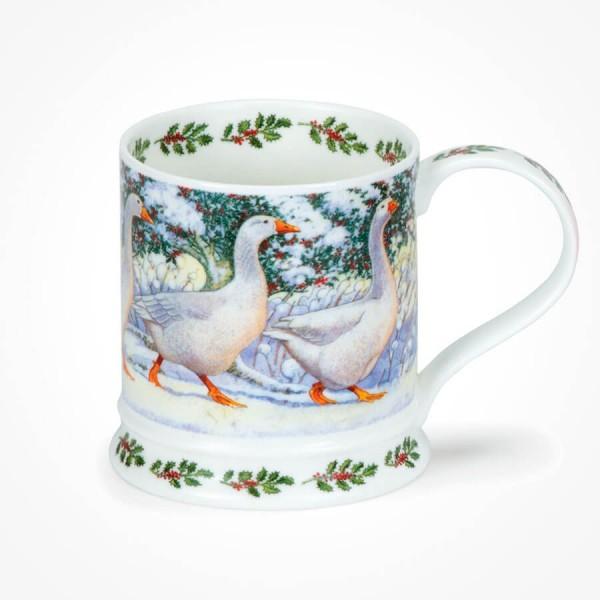 Dunoon IONA Festive Birds Goose Christmas Mug