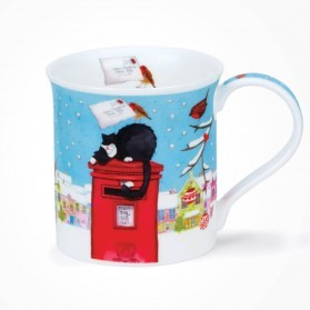Dunoon Mugs Bute Christmas Post Cat
