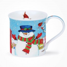 Dunoon Mugs Bute Christmas Post Snowman