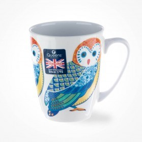 Queens Couture Paradise Birds Owl Oak Mug