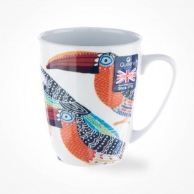Queens Couture Paradise Birds Toucans Oak Mug