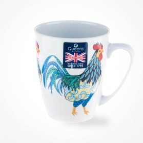 Queens Couture Paradise Birds Rooster Oak Mug
