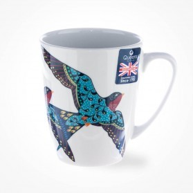 Queens Couture Paradise Birds Swallow Oak Mug