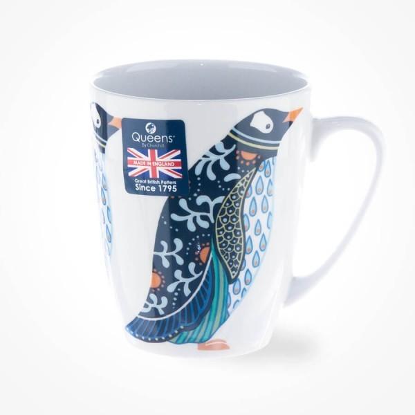 Queens Couture Paradise Birds Penguin Oak Mug