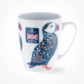 Queens Couture Paradise Birds Puffin Oak Mug