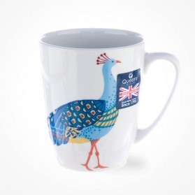 Queens Couture Paradise Birds Peacock Oak Mug