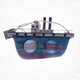 Wooden Ship Photo Frame Seaside