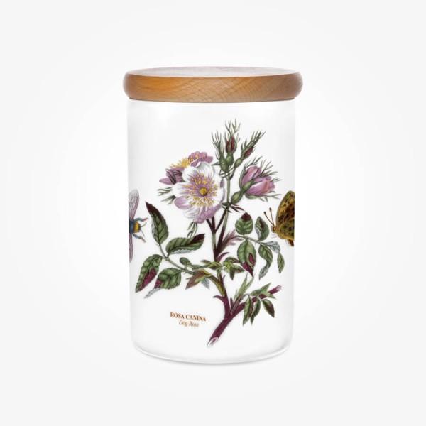 Portmeirion Botanic Garden Airtight Jar 7 inch Dog Rose