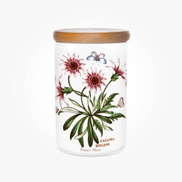 Portmeirion Botanic Garden Airtight Jar 7 inch Treasure Flower