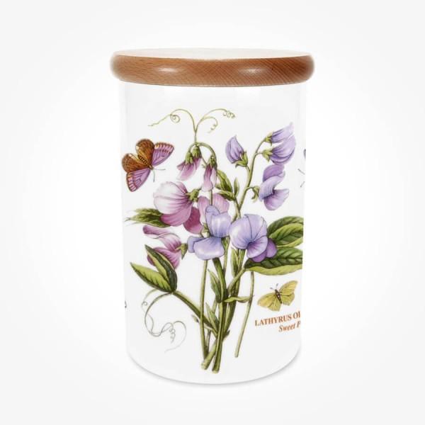 Portmeirion Botanic Garden Airtight Jar 8 inch Sweet Pea