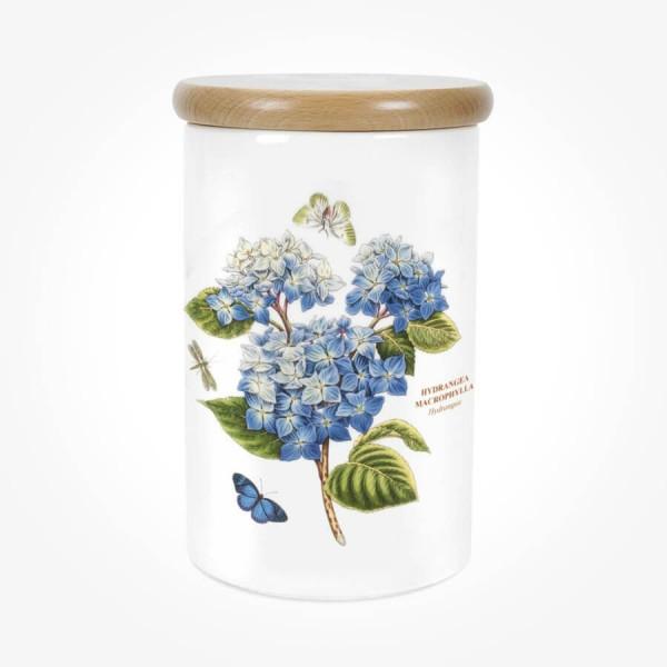 Portmeirion Botanic Garden Airtight Jar 8 inch Hydrangea