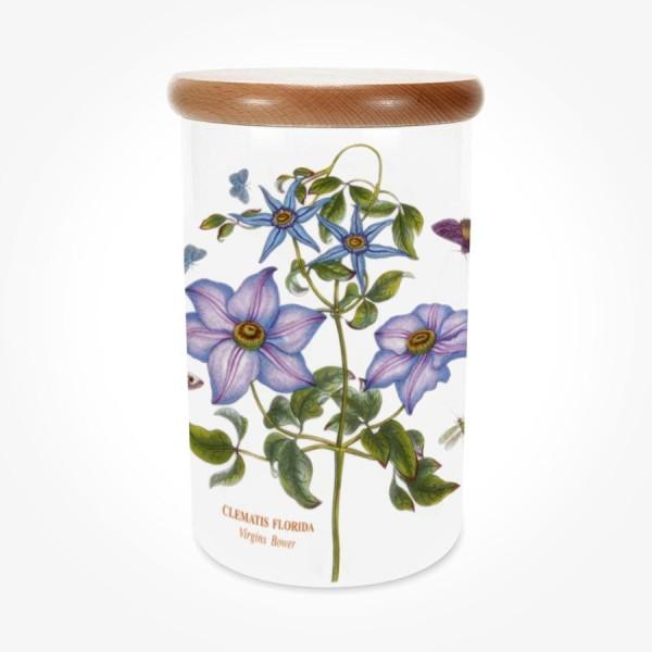 Portmeirion Botanic Garden Airtight Jar 8 inch Clematis