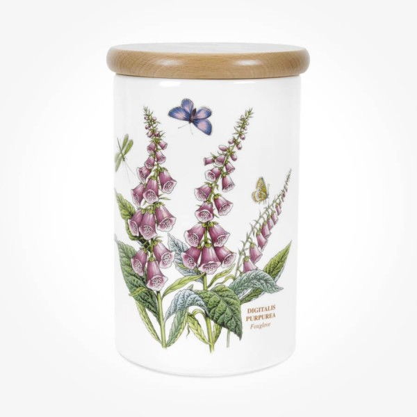 Portmeirion Botanic Garden Airtight Jar 8 inch Foxglove