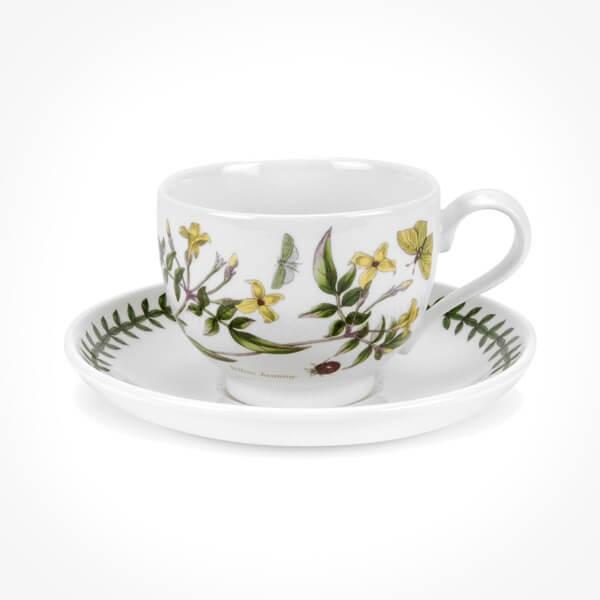 Portmeirion Botanic Garden Teacup/Saucer (T) New Yellow Jasmine