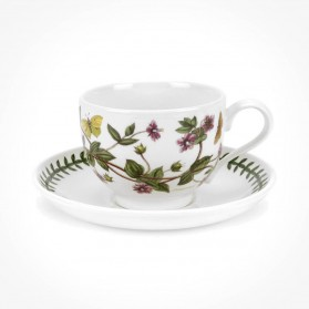 Portmeirion Botanic Garden Teacup/Saucer (T) New Pimpernel