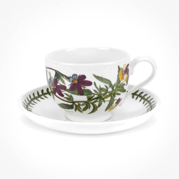 Portmeirion Botanic Garden Teacup/Saucer (T) New Heartsease