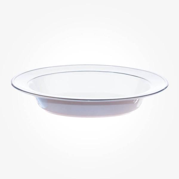 Aynsley Corona Platinum Baker Open Vegetable Dish