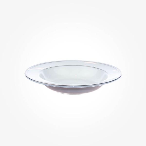 Aynsley Corona Platinum Soup Plate 7.75 inch