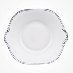 Aynsley Corona Platinum Cake Plate (B&B) Square